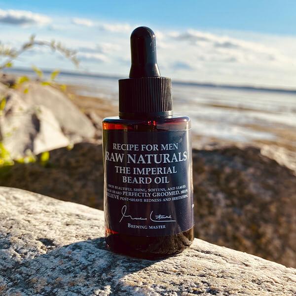 beard oil fra raw naturals